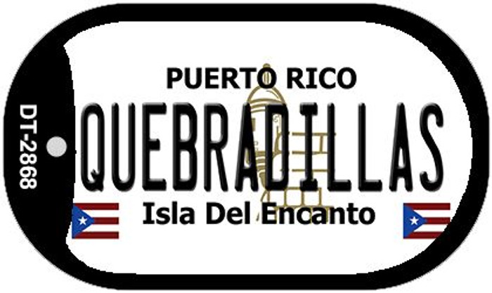 "Quebradillas Puerto Rico Dog Tag Kit 2"" Metal Novelty"