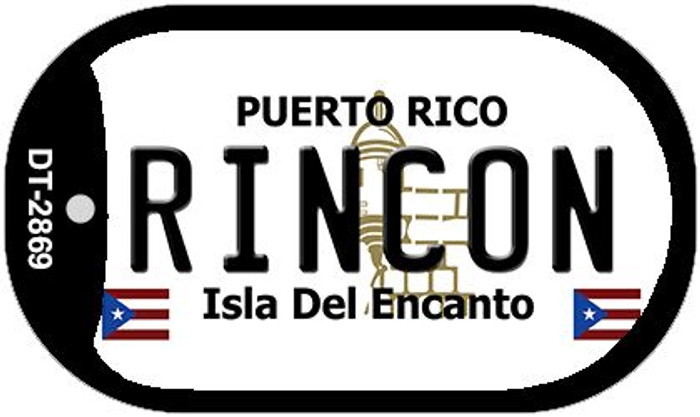 "Rincon Puerto Rico Dog Tag Kit 2"" Metal Novelty"