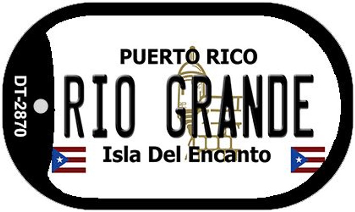 "Rio Grande Puerto Rico Dog Tag Kit 2"" Metal Novelty"