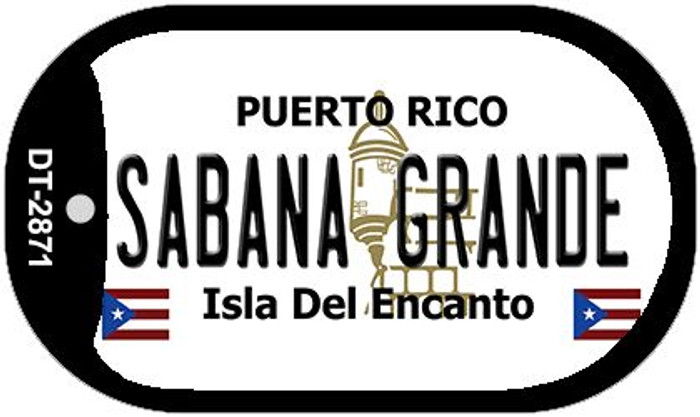 "Sabana Grande Puerto Rico Dog Tag Kit 2"" Metal Novelty"