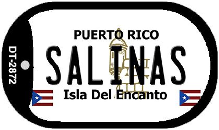 "Salinas Puerto Rico Dog Tag Kit 2"" Metal Novelty"