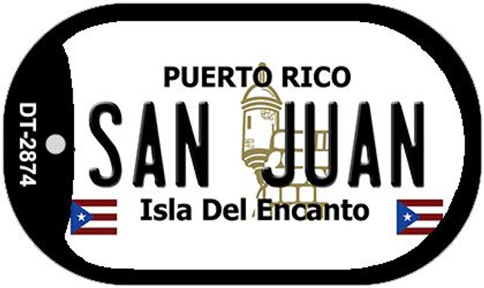 "San Juan Puerto Rico Dog Tag Kit 2"" Metal Novelty"