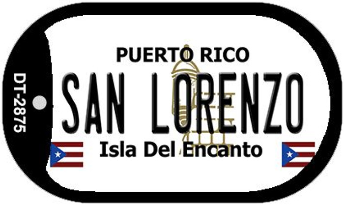 "San Lorenzo Puerto Rico Dog Tag Kit 2"" Metal Novelty"