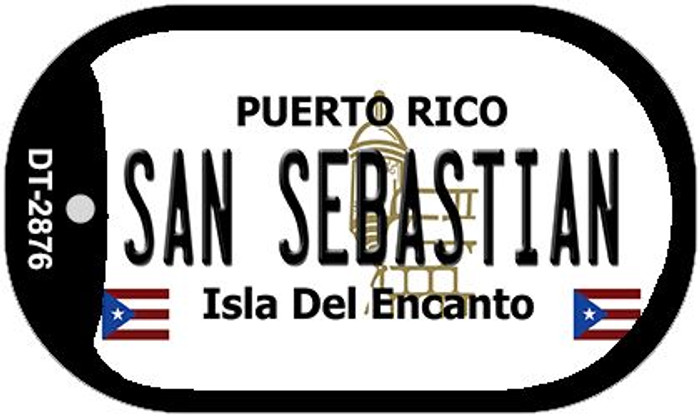 "San Sebastian Puerto Rico Dog Tag Kit 2"" Metal Novelty"