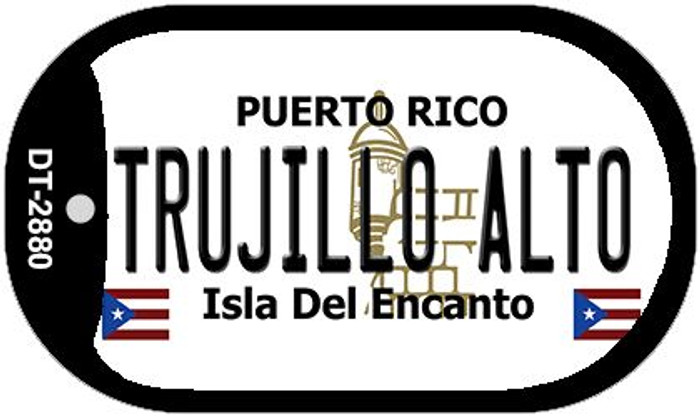 "Trujillo Alto Puerto Rico Dog Tag Kit 2"" Metal Novelty"