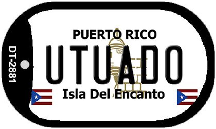 "Utuado Puerto Rico Dog Tag Kit 2"" Metal Novelty"