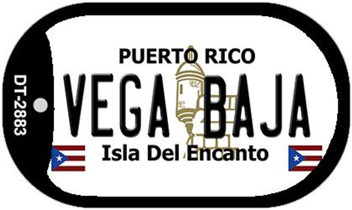 "Vega Baja Puerto Rico Dog Tag Kit 2"" Metal Novelty"