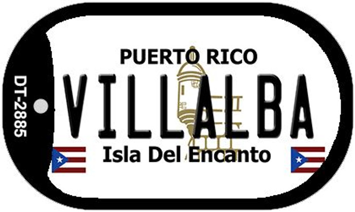 "Villalba Puerto Rico Dog Tag Kit 2"" Metal Novelty"
