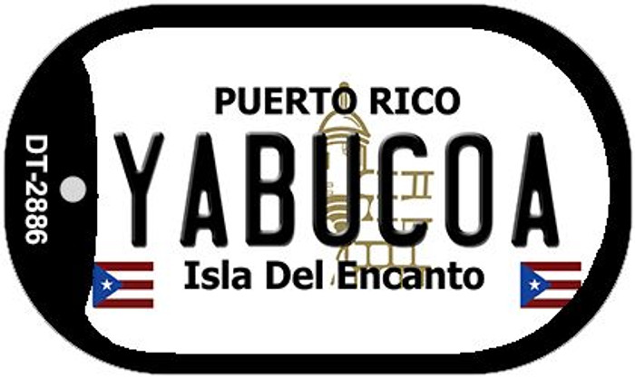 "Yabucoa Puerto Rico Dog Tag Kit 2"" Metal Novelty"