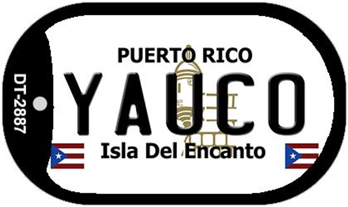 "Yauco Puerto Rico Dog Tag Kit 2"" Metal Novelty"