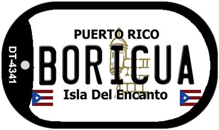 "Boricua Puerto Rico Dog Tag Kit 2"" Metal Novelty"