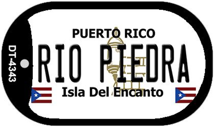 "Rio Piedra Puerto Rico Dog Tag Kit 2"" Metal Novelty"
