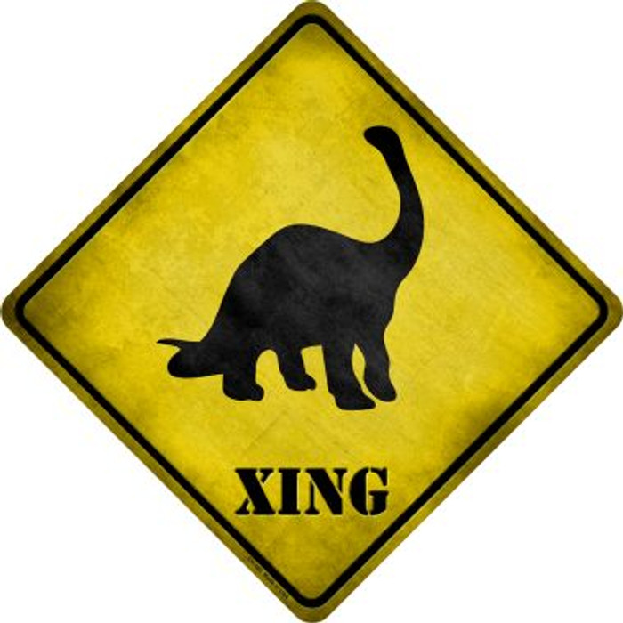 Brontosaurus Xing Novelty Metal Crossing Sign