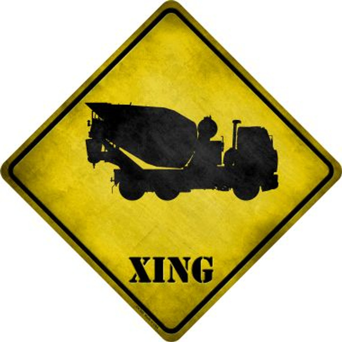 Cement Mixer Xing Novelty Metal Crossing Sign