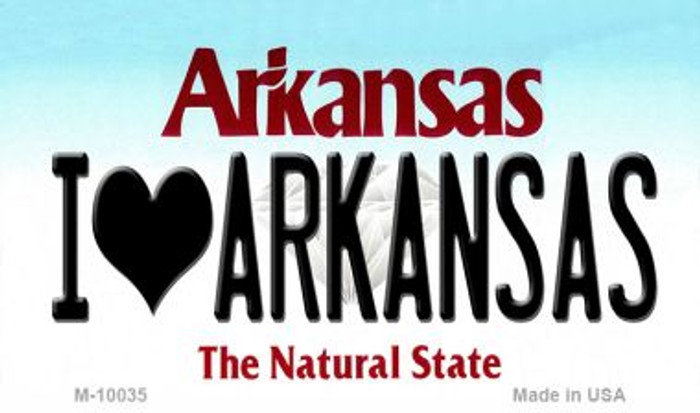 I Love Arkansas Arkansas State Background Magnet Novelty