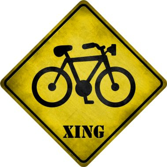 Bicycle Xing Novelty Metal Crossing Sign