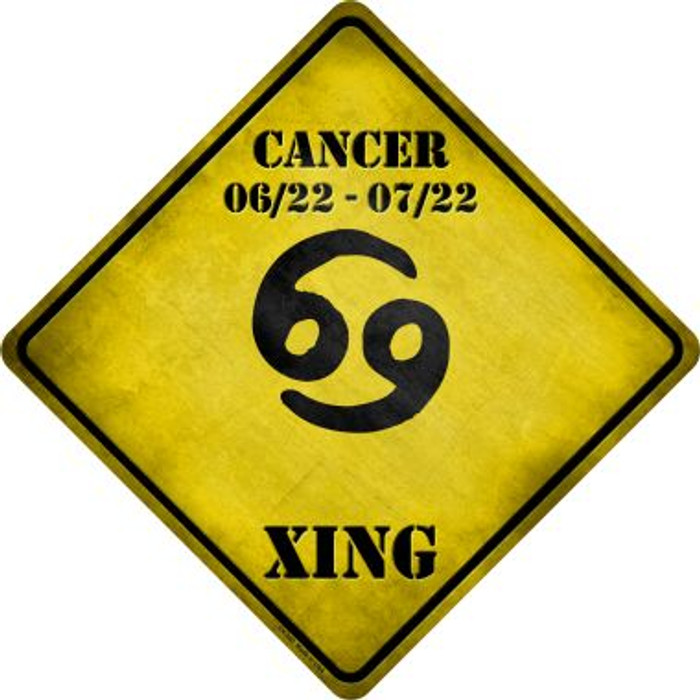 Cancer Zodiac Symbol Xing Novelty Metal Crossing Sign