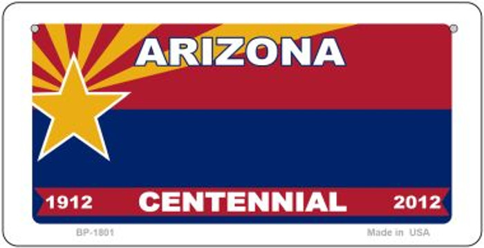 Arizona Centennial State Background Novelty Bicycle License Plate