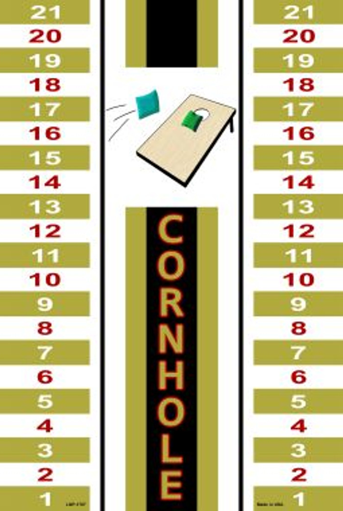 Cornhole Scoreboard Metal Novelty Large Parking Sign LGP-1707