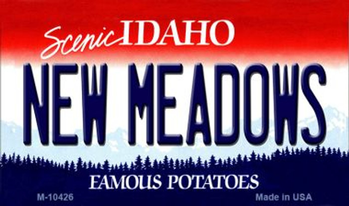 New Meadows Idaho State License Plate Magnet