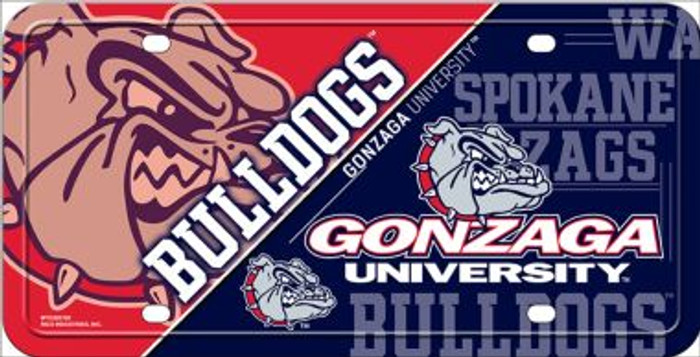 Gonzaga Bulldogs Deluxe Novelty Metal License Plate