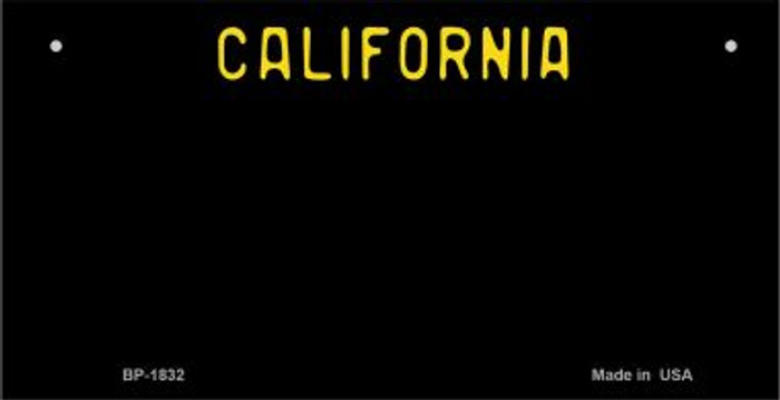 California Black State Background  Novelty Bicycle License Plate