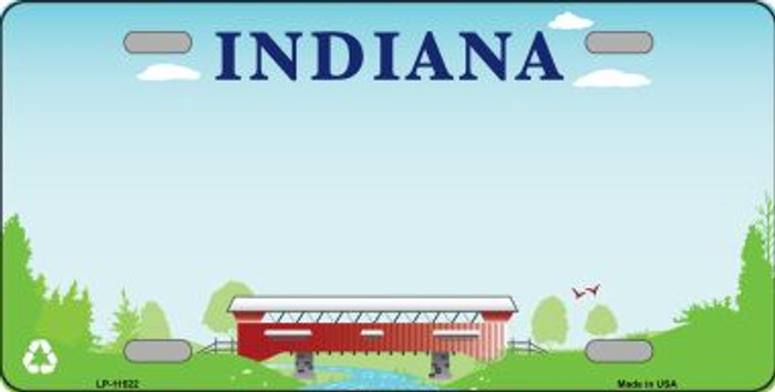 Indiana Recycle Novelty State Background Blank Metal License Plate