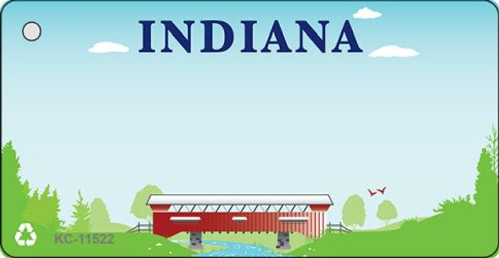 Indiana Recycle Background Novelty Key Chain