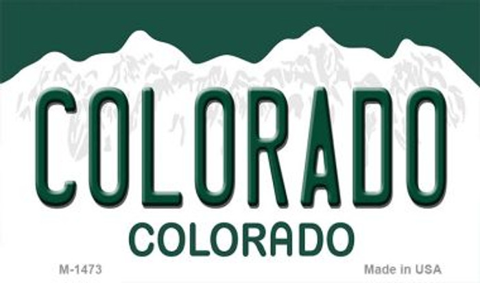 Colorado Background Metal Novelty Magnet
