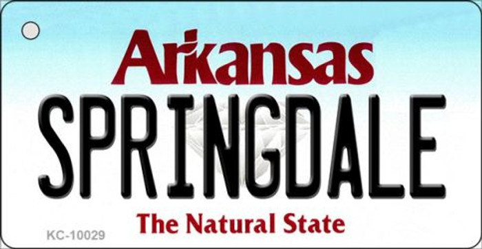 Springdale Arkansas Background Key Chain Metal Novelty