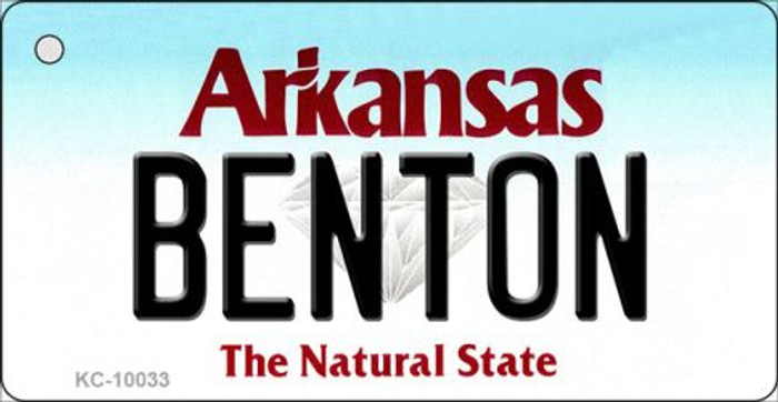 Benton Arkansas Background Key Chain Metal Novelty