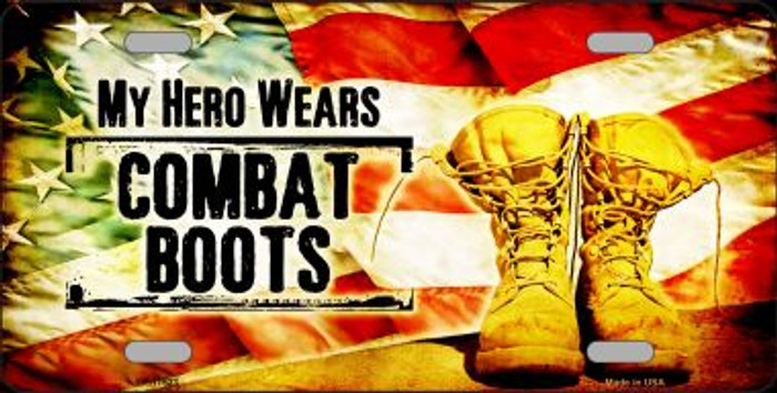 My Hero Wears Combat Boots Metal Novelty License Plate Wholesale