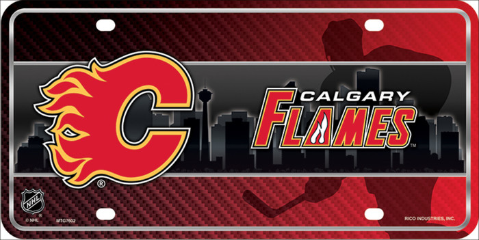 Calgary Flames Metal Novelty License Plate LP-5578