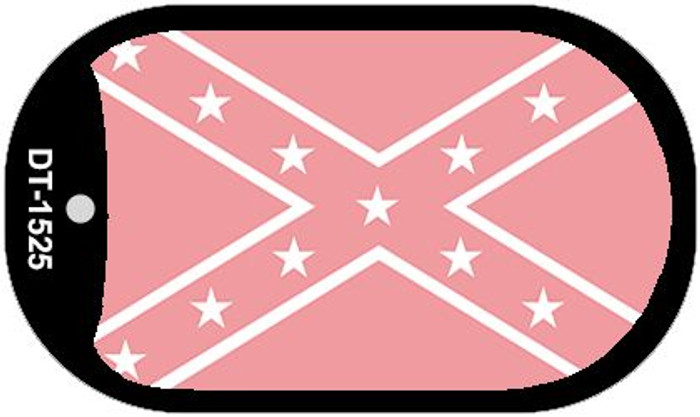 Confederate Flag Pink Dog Tag Kit Novelty Necklace
