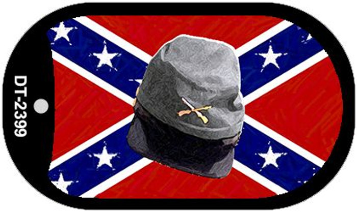 Confederate Cap Dog Tag Kit Novelty Necklace