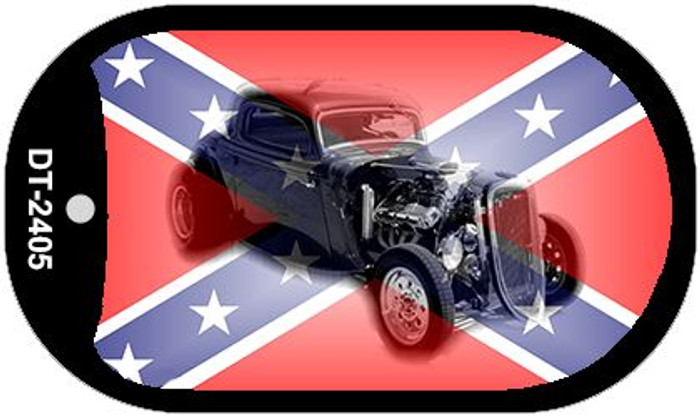 Confederate Hotrod Dog Tag Kit Novelty Necklace