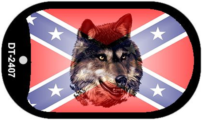Confederate Wolf Dog Tag Kit Novelty Necklace