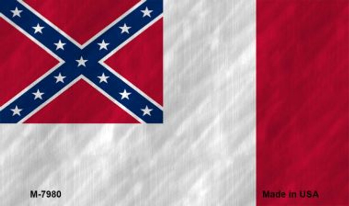 Third Confederate Flag Novelty Magnet