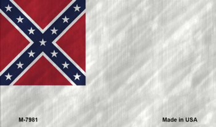Second Confederate Flag Novelty Magnet