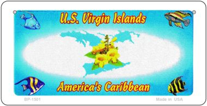 US Virgin Islands State Background Novelty Bicycle License Plate BP-1501