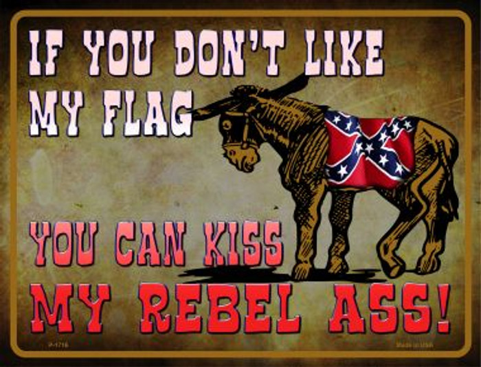 Don't Like My Flag Kiss My Rebel Ass Novelty Parking Sign
