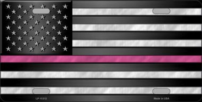 Thin Pink Line Novelty License Plate