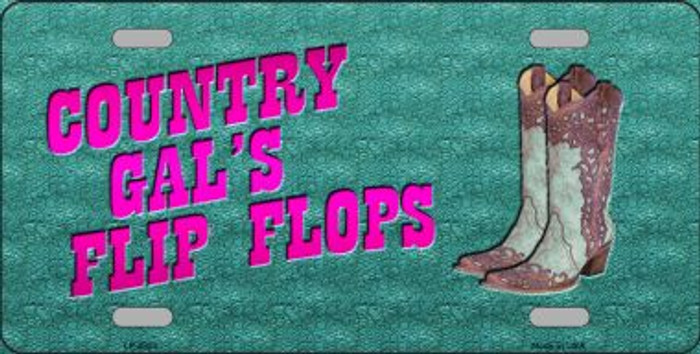 Country Gal's Flip Flops Novelty License Plate LP-8820