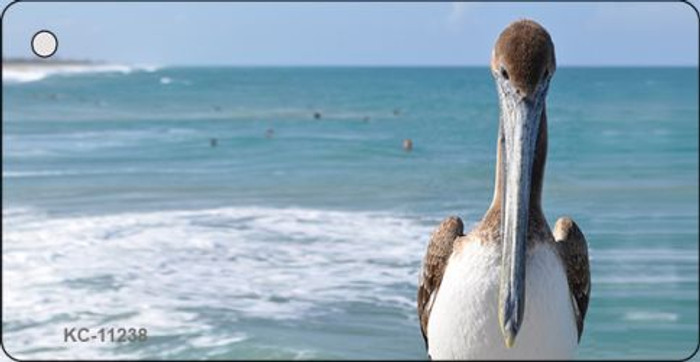 Pelican - Ocean Background Novelty Key Chain