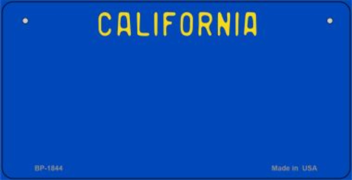 California Blue State Background Novelty Bicycle License Plate