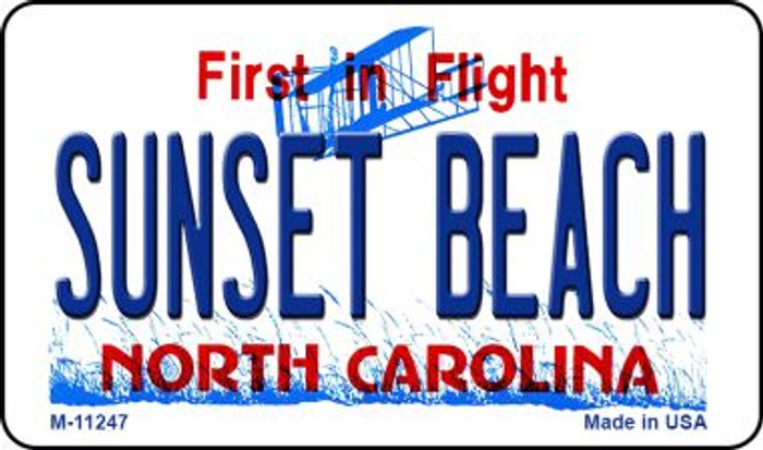 Sunset Beach North Carolina State Background Novelty Magnet