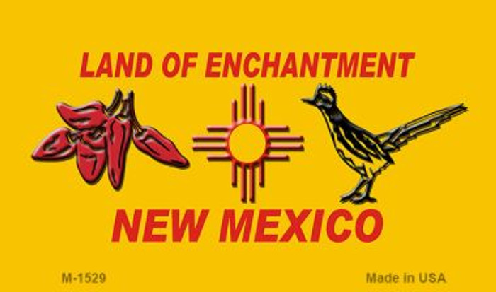 Red Chili & Road Runner Yellow New Mexico Novelty Magnet