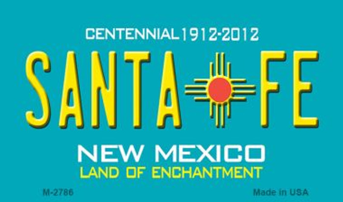 Santa Fe New Mexico Novelty Magnet