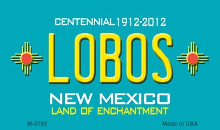 Lobos New Mexico Novelty Magnet