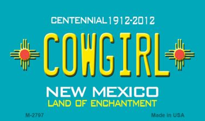 Cowgirl New Mexico Novelty Magnet